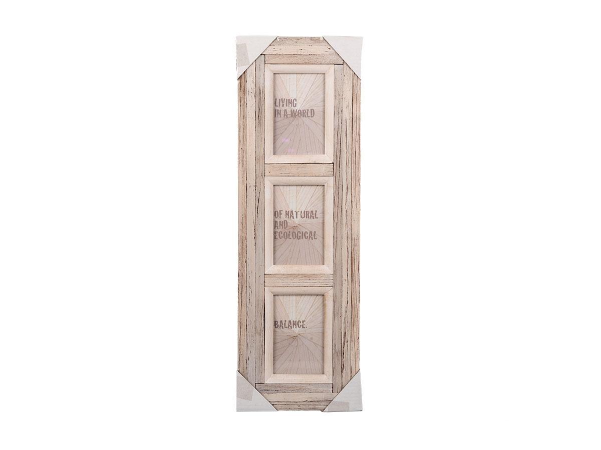 holz bilderrahmen vintage look galerierahmen f r 3 fotos fotospektrum. Black Bedroom Furniture Sets. Home Design Ideas