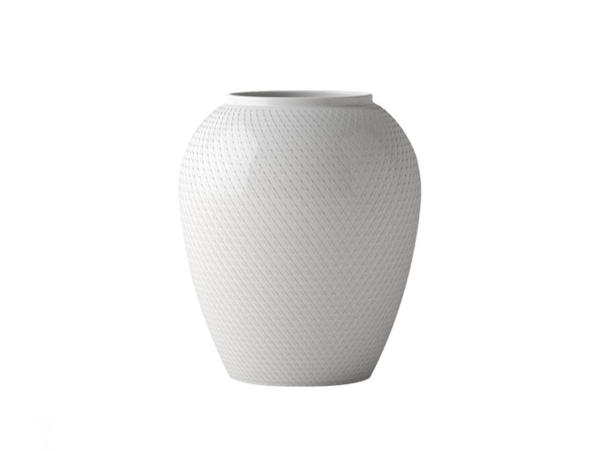 rhombe vase wei 17 cm von lyngby. Black Bedroom Furniture Sets. Home Design Ideas